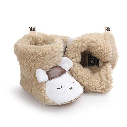 Hunpta Babyschuhe Mädchen Jungen Lauflernschuhe Schöne Kleinkind Schneestiefel Baby Junge Mädchen weichen Sohle weiche Krippe Schuhe Stiefel (11, Weiß) Khaki