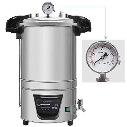 Hanchen 18L Hohe Druck Sterilisator 105-126℃0-60min Autoklaven Dampf Sterilisator Elektrische Dampfsterilisator für Labor Hause Lebensmittel Fabrik 220V