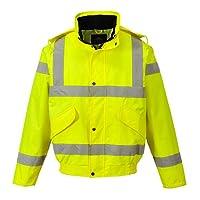 Portwest RT62YERXL Series RT62 Hi-Vis Breathable Bomber Jacket, Regular, Size: X-Large, Yellow