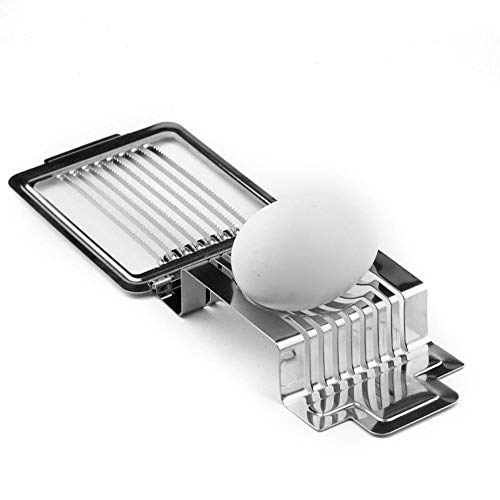 ATEZIEU Metall Egg Slicer Cutter, Slice Hard Boiled Eggs Quicky and Effective, Geschirrspüler Safe für das Schneiden von Boiled Eggs 1PC Hard-boiled Egg Slicer