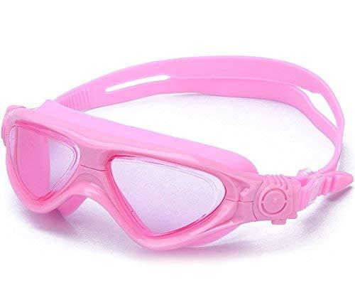 Schwimmbrille Masken Kinder Komfort Klare Anti-Beschlag Taucherbrille für Jungen Mädchen Kinder Junior Kleinkinder Jugendliche--rosa -