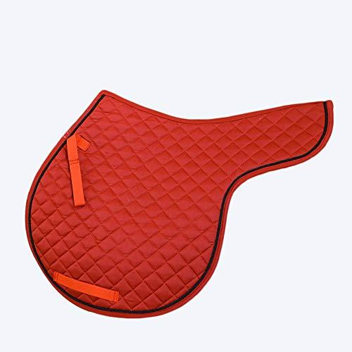 Mitrc Pferdesattelunterlage, Halbe Sattelunterlage, Korrektur-Sattelunterlage, Schwamm, Textilstoff Perfekt für Vielseitigkeitsspringen & Training -
