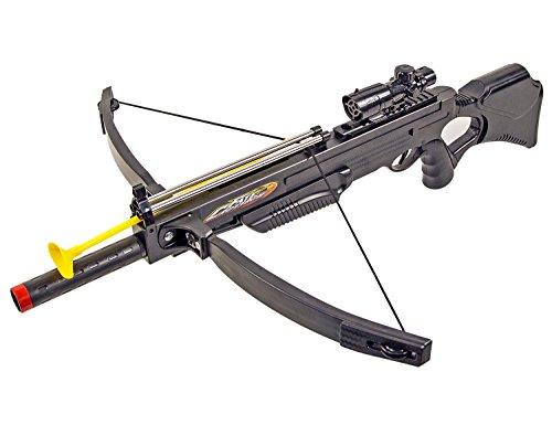 Kinder-Spielzeug Air-Soft und Armbrust 80cm 2 in 1 Sport Ziel-Fernrohr >0,5 Joule Kugeln Munition Pfeil SEK Soldat Taktisch ab 14 Jahren Dart