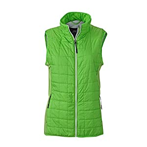 41bHgKKtuxL. SS300  - James & Nicholson Women's Hybrid Vest Gilet, Womens, Hybrid Vest