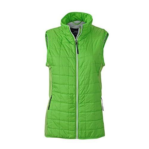 41bHgKKtuxL. SS500  - James & Nicholson Women's Hybrid Vest Gilet, Womens, Hybrid Vest