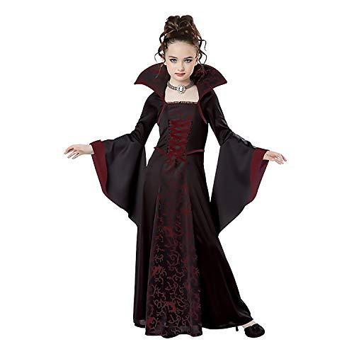 Kind Mädchen Mode Klassische Hexe Kleid Kostüm für Halloween Party Cosplay Rollenspiel Bühne Leistung Fotografie Kostüme 130 cm (Mode Und Kostüm Für Leistung)