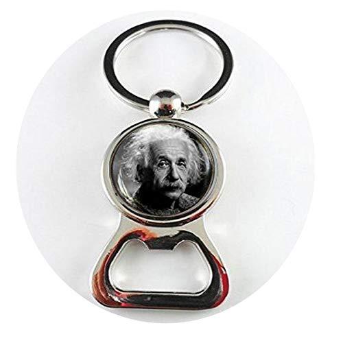 qws Flaschenöffner Albert Einstein Science Geek Physik Math Lehrer Bibelzitat Religiöse Schmuck-Flaschenöffner