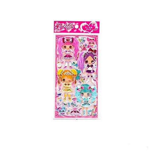 Schöne Sticker mit Mädchen in (Kinder Sailor Kostüme Moon)