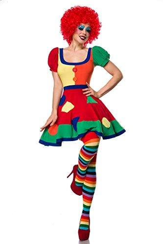 Mask Paradise Clownfrau Damenkostüm bunt ()