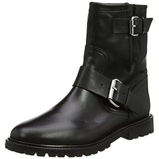 Unbekannt Office Damen Ammunition W Biker Boots, (Schwarzes Leder), 38 EU c33db122f3