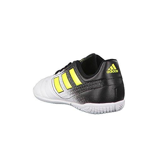 adidas Unisex-Kinder Ace 17.4 in J Futsalschuhe FTWWHT/SYELLO/CBLACK