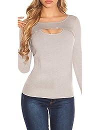 Ausgefallener Feinstrick-Pullover mit XL-Rückenschnürung