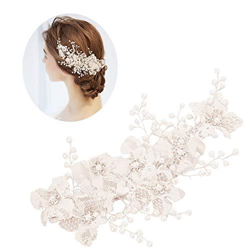 roroz Braut Kopfschmuck Stirnband, Spitze Hochzeitskleid Mit Accessoires, Retro Süße Braut Haarspange Japanischen Und Koreanischen Stil 2019 Neu, Hochzeit Brautjungfer,White