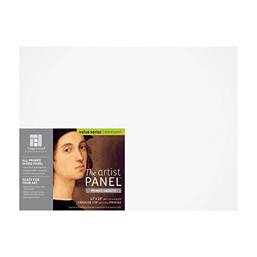 AMPERSAND ART SUPPLY Künstler-Platte, glatt, grundiert, 0,8 cm, flaches Profil, 15,2 x 15,2 cm gehalten, 2,22 cm (7/8 Zoll) 12