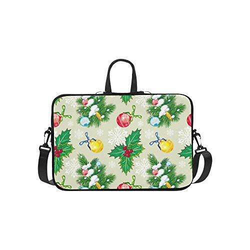 Holiday Seamless Pattern Weihnachtsbaum-Raster Lager Abbildung Muster Aktenkoffer Laptoptasche Messenger Schultertasche Crossbody-Handtasche für Geschäftsreisen