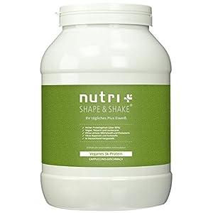 Nutri-Plus Shape & Shake Vegan 1kg – Veganes Proteinpulver ohne Aspartam, Laktose & Milcheiweiß – Inkl. Dosierlöffel
