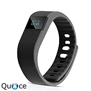 Quace TW64 OLED Display Bluetooth 4.0 Waterproof Smart Health Band with Pedometer, Sleep Monitoring, Call Reminder, Clock, Remote camera, Anti-lost Function, Compatible with iOS and Android System