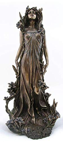 PALAZZO INT Jugendstil Nymphe Skulptur Statue AN10328A4 Veronese Collection Alphonse Mucha Art Nouveau