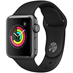 Apple Watch Series 3 GPS, 38mm space grau Aluminium Case, Sportarmband schwarz Apple Watch