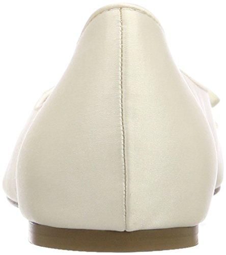 Tamaris Damen 22208 Geschlossene Ballerinas, Weiß (Champagne 179), 36 EU