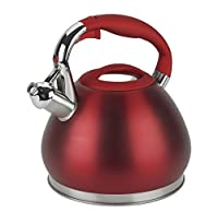 Lenox Silhouette L-12221 Stainless Steel Kettle, 3 quart, Red