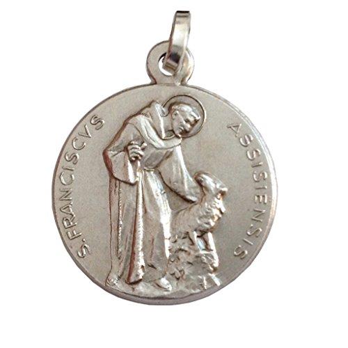 Medalla de San Francisco de Asís de Plata Macizo 925 - Patrono de Europa