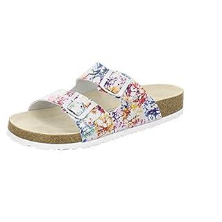 AFS-Schuhe 2100, sportliche Damen-Pantoletten, praktische Arbeitsschuhe, hochwertiges, echtes Leder Größe 42 Mehrfarbig (bunt)