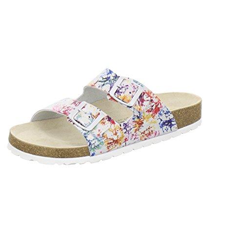 AFS-Schuhe 2100, sportliche Damen-Pantoletten, praktische Arbeitsschuhe, hochwertiges, echtes Leder Größe 37 Mehrfarbig (bunt)