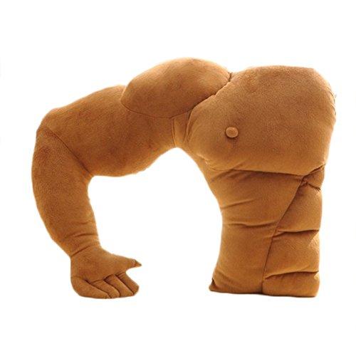 Da.Wa 1 Stück Freund Halten Kissen Muscle Arm Unterstützung Kissen Weiche Mann Umarmung Körper Schlaf Kissen Warm Plüsch Spielzeug Für Auto Stuhl Sitzbett Sofa Braun