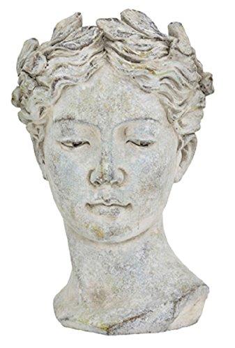 Pflanztopf Büste Valo, Keramik, grau, 21 cm/Blumentopf Antik Design