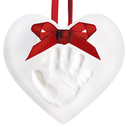 Pearhead 50011 - Babyprints Christmas Ornament Heart - Handabdruck, weiß (Ornament Christmas Handabdruck)