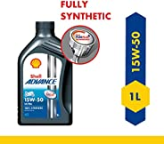 Shell Advance Ultra 4T 15W-50 API SN Fully Synthetic Motorbike Engine Oil (1 L)