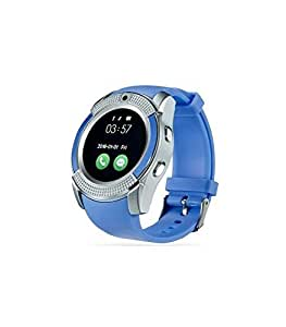 M-STARK Lenovo S930 Compatible Bluetooth Smartwatch (Silver) with SIM Card Support | Android 5.1 OS | Facebook | Whatsapp | Activity Tracker | Fitness Band | Music | Camera With Video Recording S25