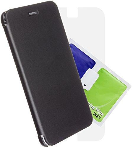 CASE IT Executive Slimline Folio Schutzhülle mit Displayschutzfolie für Apple iPhone 6 Plus schwarz Iphone Executive Leather Case