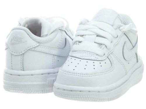 Nike Force 1 Td Scarpe Sportive, Unisex Bambino Blanc Cassé - Blanco (White / White-White)