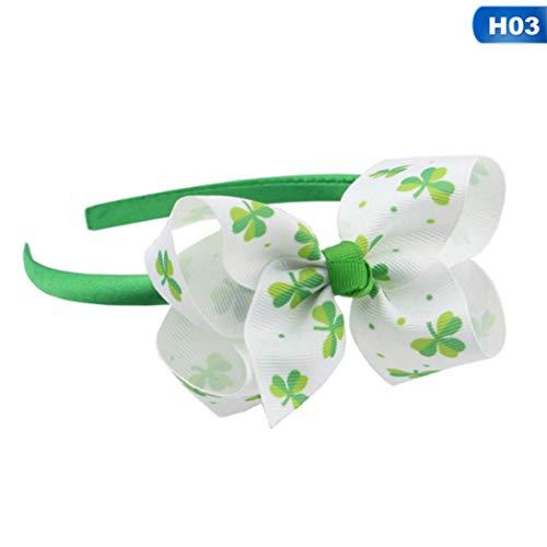 yuehuxin Haarband mit Schleife für Mädchen und St. Patrick's Day - Patrick Mädchen Kostüm