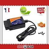 Diagnosegerät ELM327 OBD2 USB Auto Scanner OBD OBD2 Diagnose für mehrere Marken – DIAG Auto