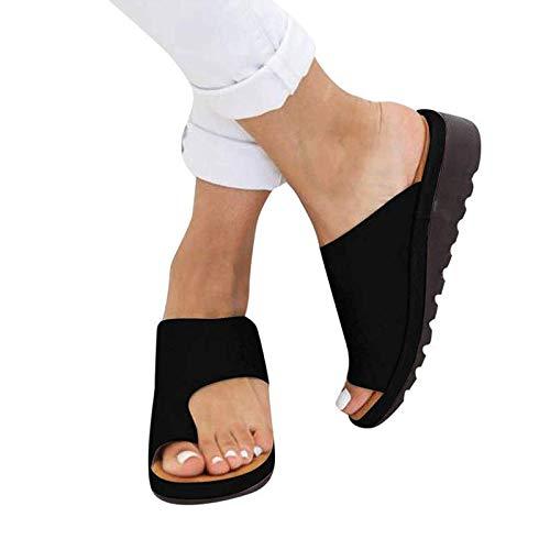 Plattform-flip-flop-sandalen (XYZY Männer Damen 2019 Neue Sommer Strand Schuhe Flach Flip Flops,Big Toe Hallux Valgus Unterstützung Plattform Sandale Schuhe für die Behandlung)