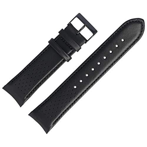 Hugo Boss Uhrenarmband 22mm Leder Schwarz Glatt - 659302762