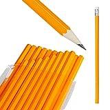 Relaxdays Bleistifte 100er Set, Radierer, HB-Minen, Holzbleistifte im Großpack, Stifteset Büro, Schule, Stift, natürlich