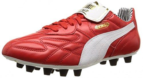 Puma King Top Stripe di F, Scarpe da Calcetto Uomo Rosso