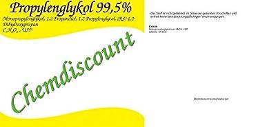 1 Liter 1000ml Propylenglykol 99,5%1,2-Propandiol in Pharmaqualität USP, versandkostenfrei von WHC WasserHygieneChemie GmbH