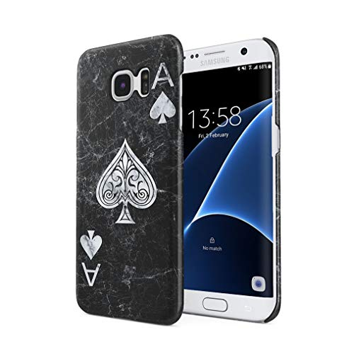 Maceste Ace of Spades Black Marble Kompatibel mit Samsung Galaxy S7 Edge SnapOn Hard Plastic Phone Protective Fall Handyhülle Case Cover