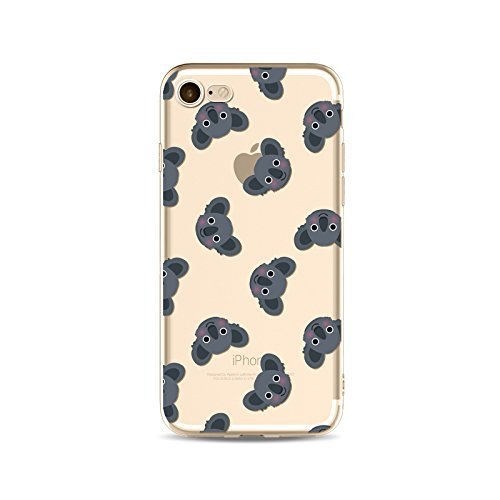 Coque iPhone 7 Plus Housse étui-Case Transparent Liquid Crystal en TPU Silicone Clair,Protection Ultra Mince Premium,Coque Prime pour iPhone 7 Plus-Koala-style 6 17