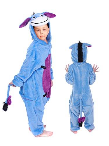 Kinder Kostüme Cosplay Onesie Esel L Größe Jumpsuits Pyjama Mädchen Jungen (Kinder Esel Kostüme)