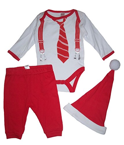 Soft Touch Baby Jungen (0-24 Monate) Bekleidungsset Red, White 3-6 (Santa Outfit Baby)