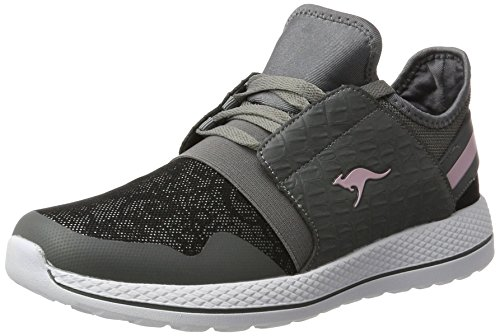 KangaROOS Damen W-300 Sneaker, Grau (Steel Grey/Jet Black), 40 EU