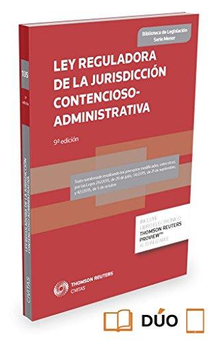 Ley Reguladora de la Jurisdicción Contencioso-administrativa (Papel + e-book): Ley 29/1998, de 13 de julio (Biblioteca de Legislación - Serie Menor)