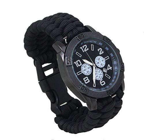 Uhr PARACORD Armband schwarz Gr.L