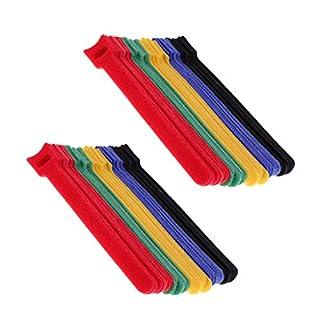 perfk 100x Nylon Haken Schleife Kabelbinder Kabel Ordentlich Organizer Klettverschluß Extrem stark & wiederverwendbar